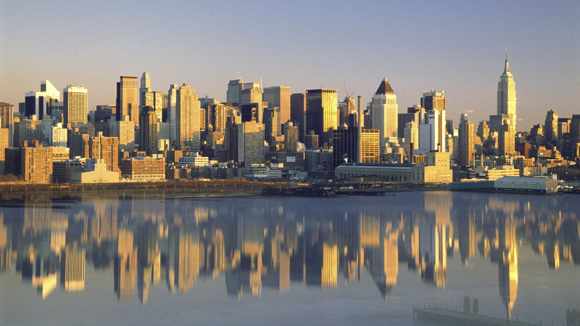 New york city reflected new york